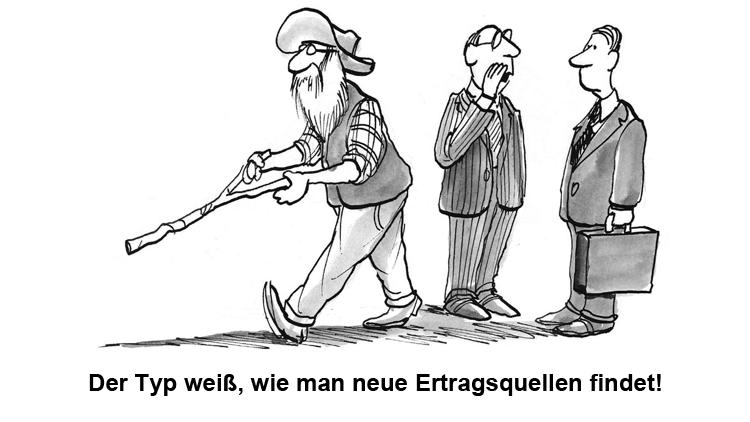 Cartoon: Neue Ertragsquellen für Banken