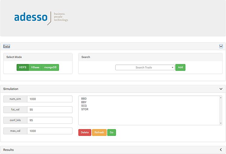Screenshot einer Big-Data-Anwendung