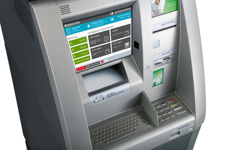 Moderner Geldautomat (GAA) in Banken