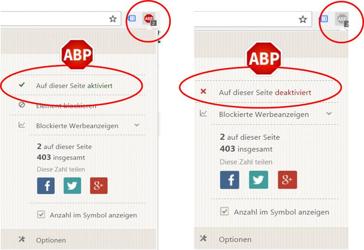 Adblocker deaktivieren