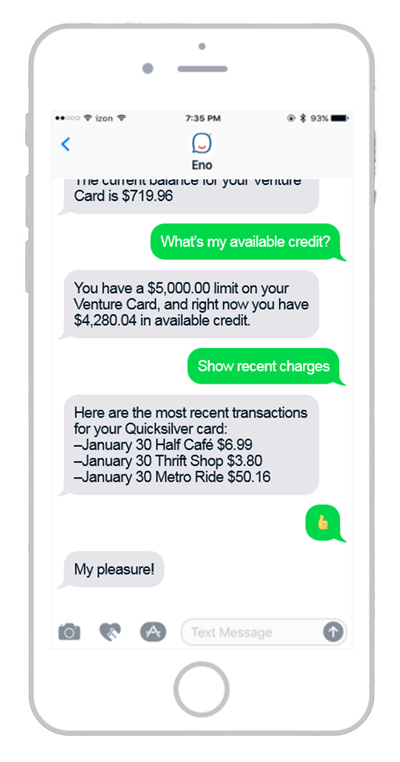 Capital One Chatbot Eno