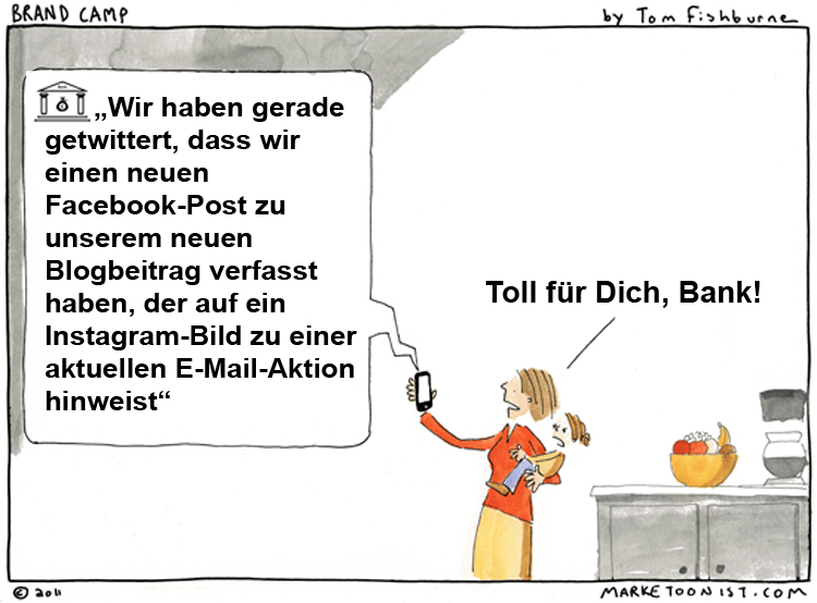Cartoon Multikanal-Marketing