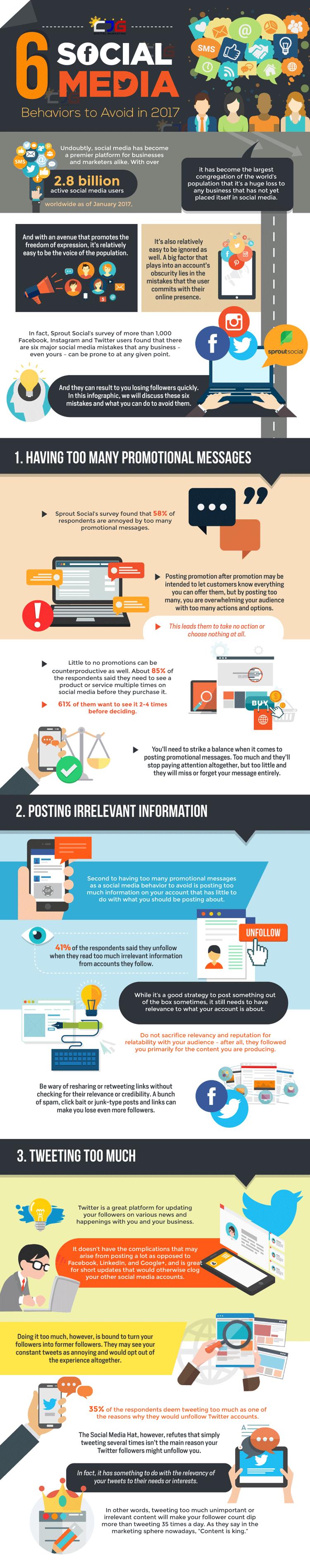 Social Media Fehler - Infografik