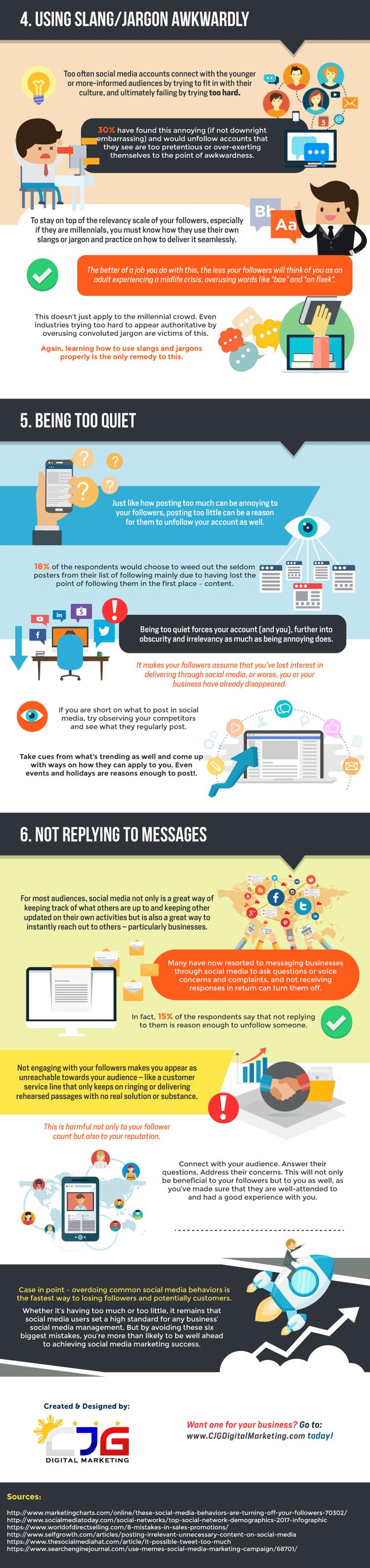 Weitere Social Media Fehler - Infografik