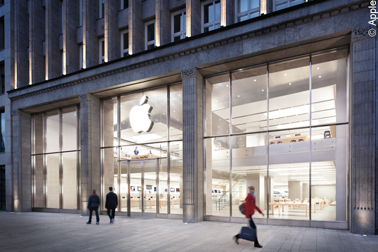 Der Hamburger Apple-Store am Jungfernstieg