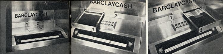Bedienfeld erster Geldautomat 1967
