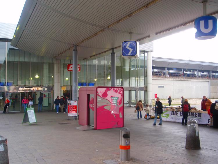 U-Bahnhof mit SB-Bankfiliale