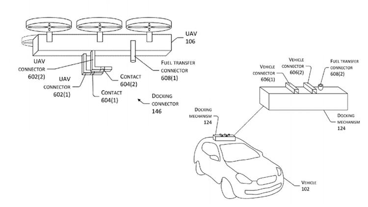 Nachladen der Autobatterie beim Fahren durch Drohne