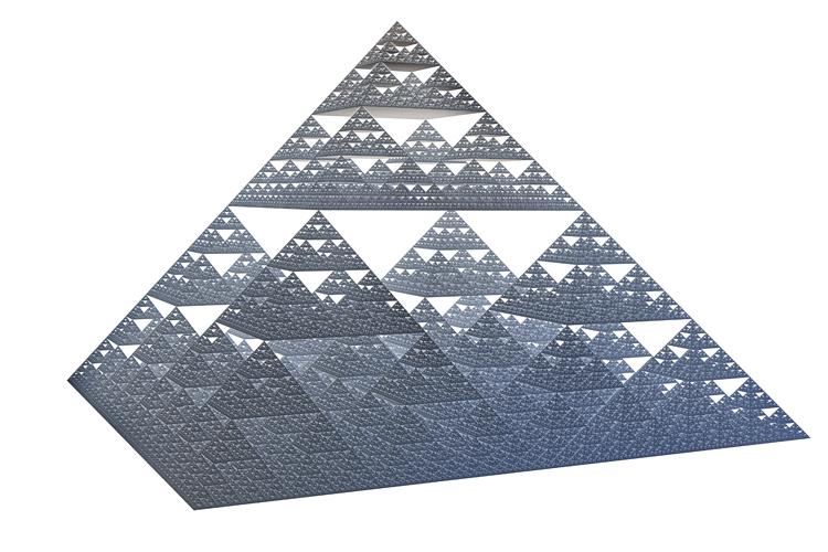 Bitcoin und die Sierpinski Pyramide