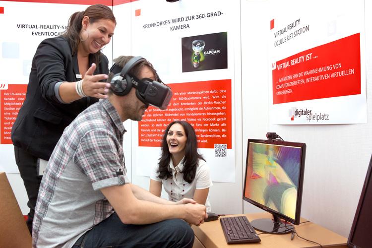 Kunden im digitalen Spielplatz