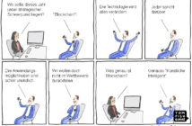Cartoon: Der Blockchain Hype