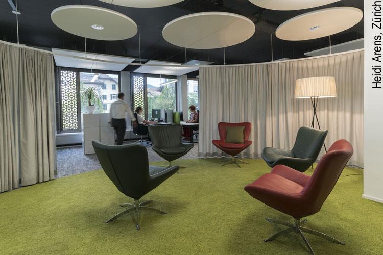 Denkküche: Kreativraum im Bank Linth Hauptsitz in Uznach