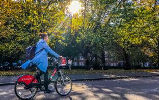Banking für Radfahrer in London