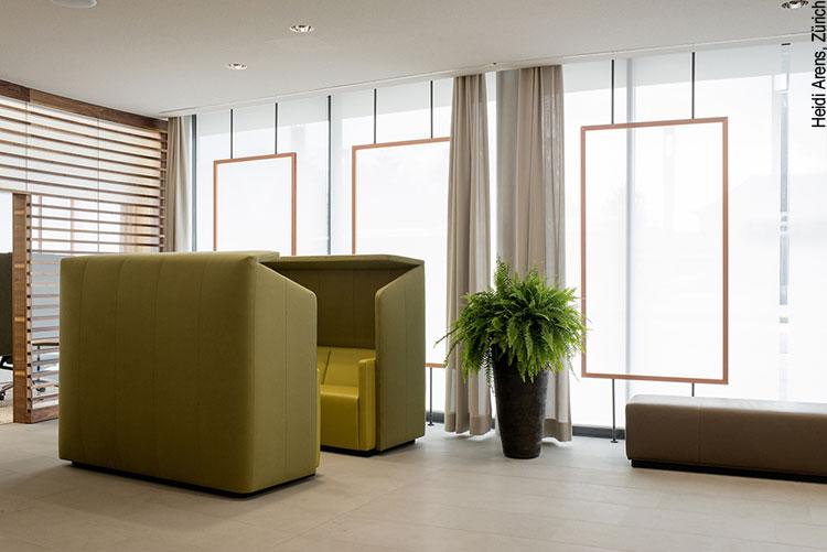 Innenraum-Design der Bank Linth Sargans