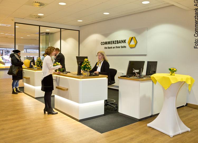 Flagship-Bankfiliale der Commerzbank in Mannheim