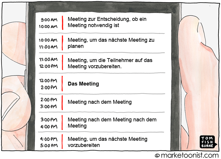 Cartoon: Meeting-Wahn
