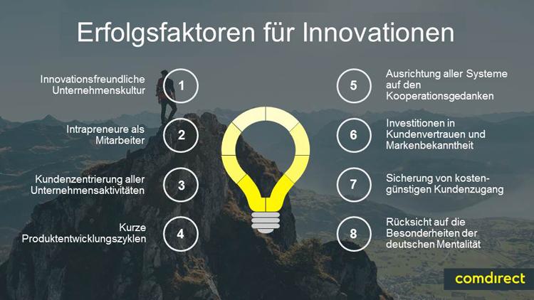 Acht Erfolgsfaktoren für Innovationen in Banken und FinTechs