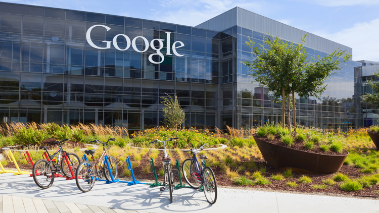 Google Zentrale in Mountain View, Kalifornien