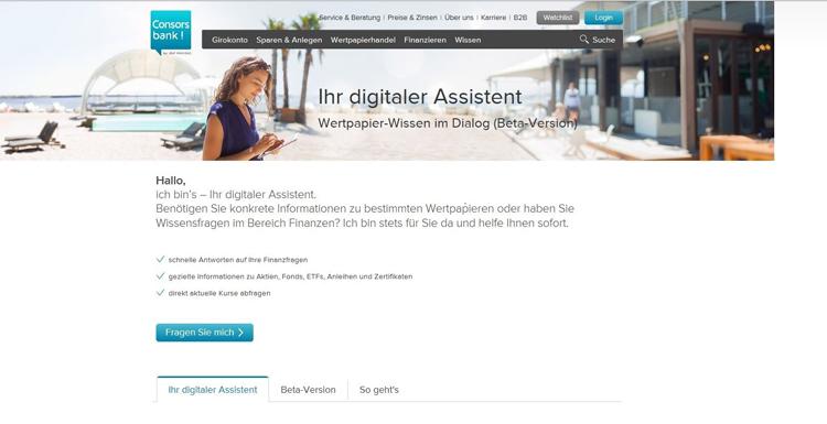 Der neue digitale Assistent der Consorsbank