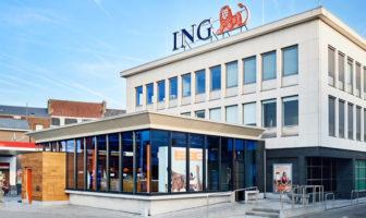 Außenansicht des Client House der ING Belgien