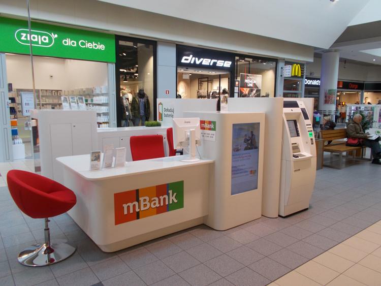 Kiosk-Filiale der mBank