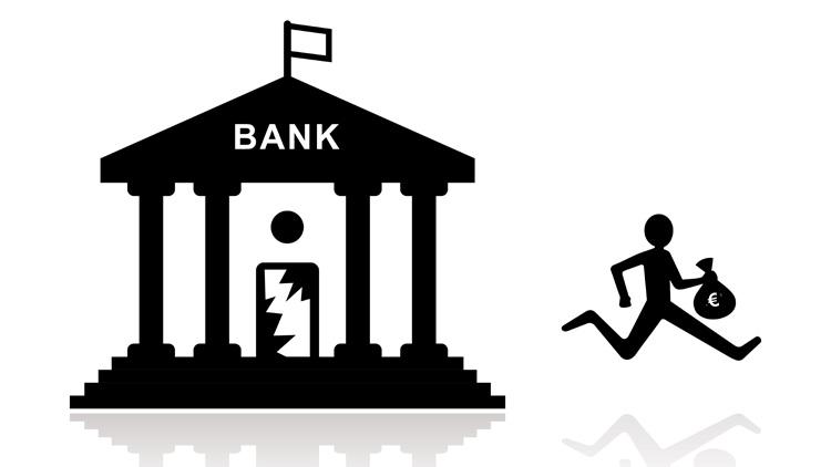 Abbau von Filialen bei Banken und Sparkassen