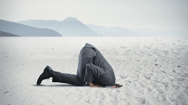 Eine Kopf-in-den-Sand-stecken-Strategie führt selten zum Erfolg