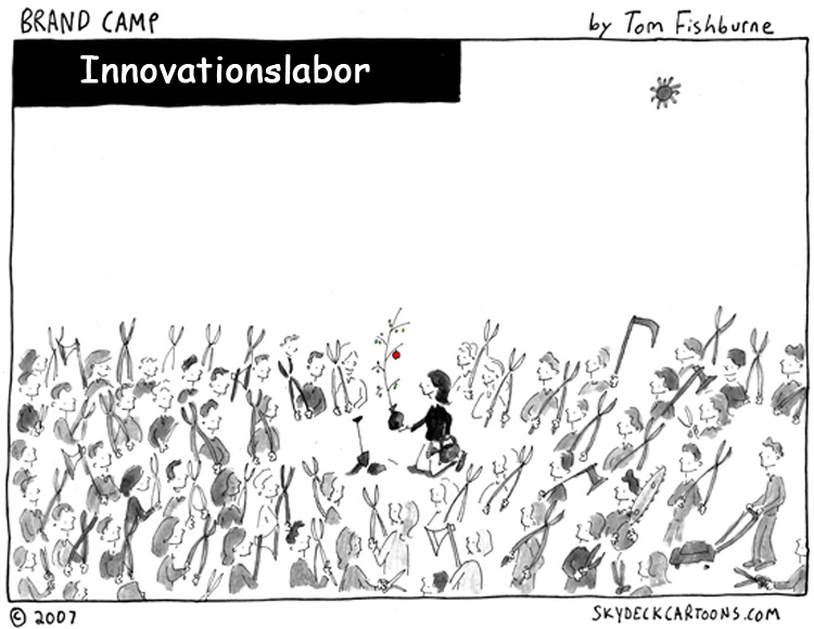 Cartoon: Innovationslabor als Ideenlieferant