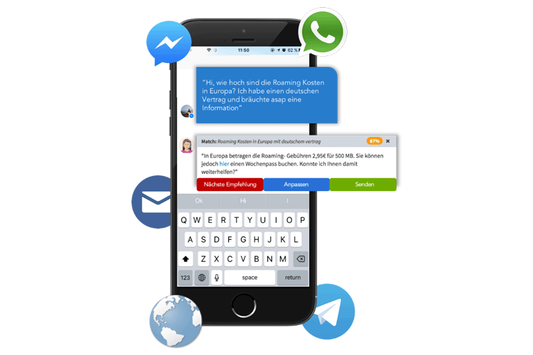 Chatbot mit Künstlicher Intelligenz im Einsatz