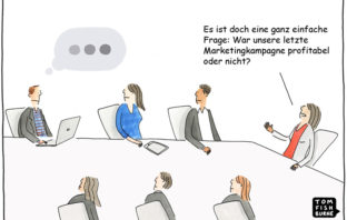 Cartoon: Der ROI von Marketingkampagnen