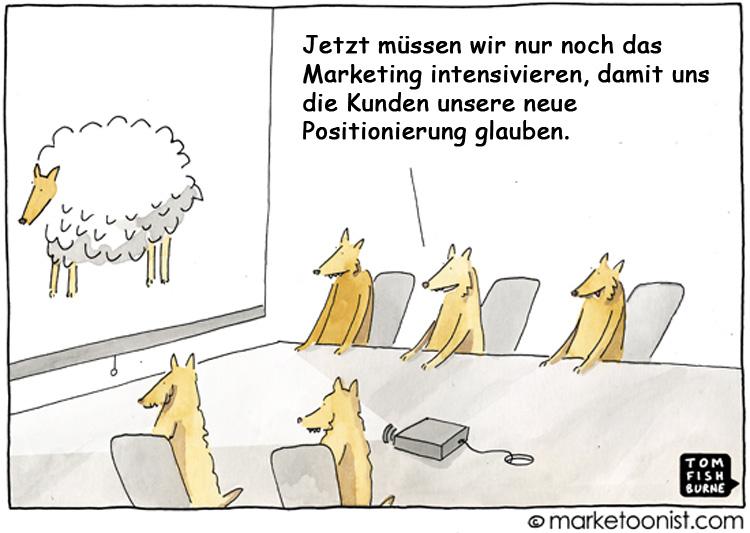 Cartoon: Rebranding bei Banken und Sparkassen