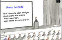 Cartoon: Typische Mission einer Bank