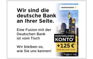 Commerzbank-Werbung nach gescheiterter Fusion
