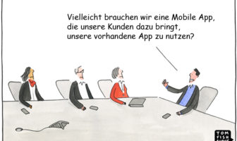 Cartoon: Steigerung der Mobile-App-Nutzung