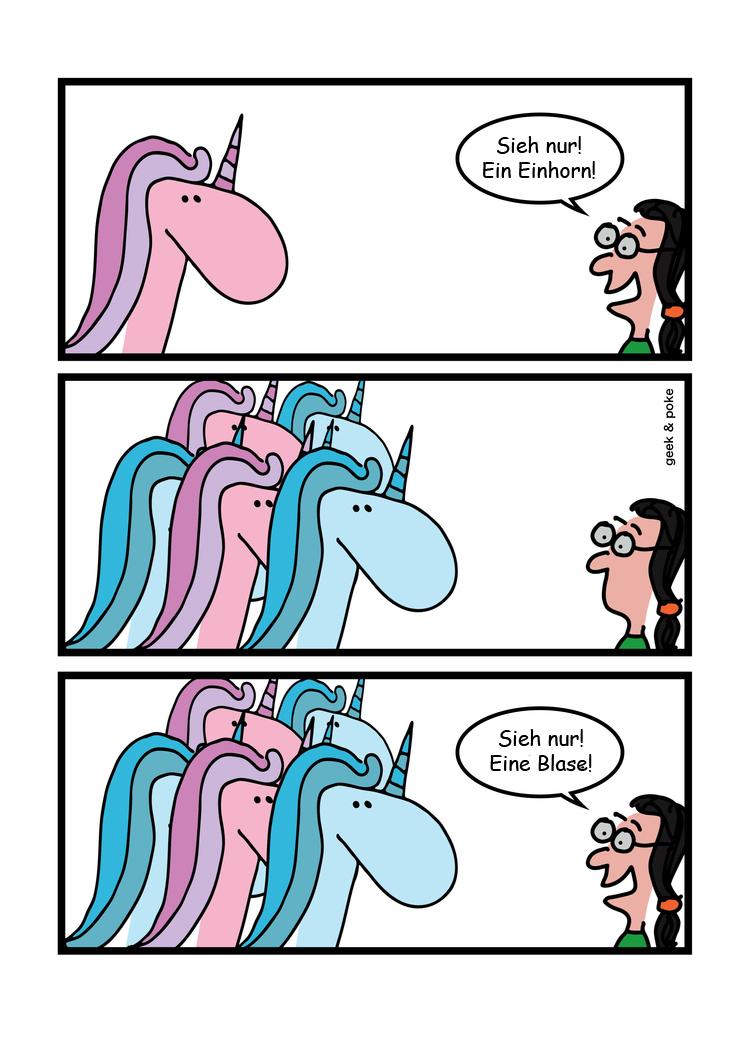Cartoon: Viele FinTech-Einhörner deuten die Entwicklung einer Blase an