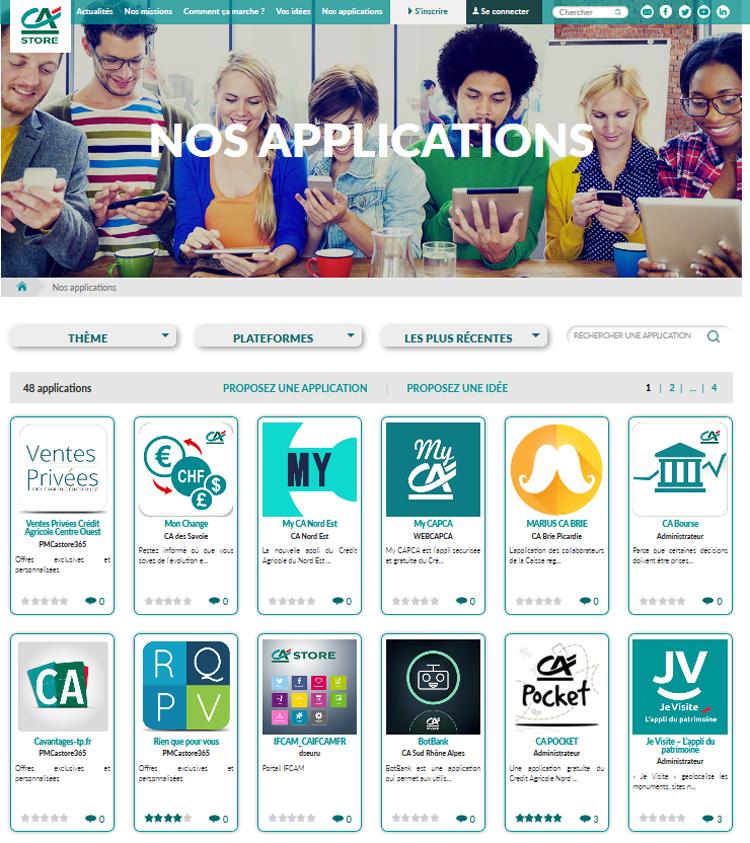Crédit Agricole Banking App Store