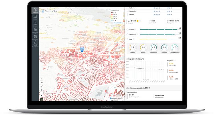 PriceHubble zeigt den Objektwert einer Immobilie