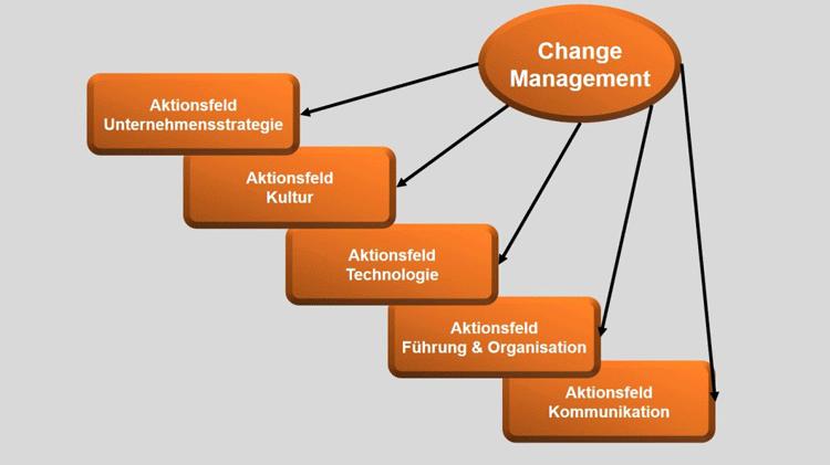 5 Aktions- und Handlungsfelder im Change Management