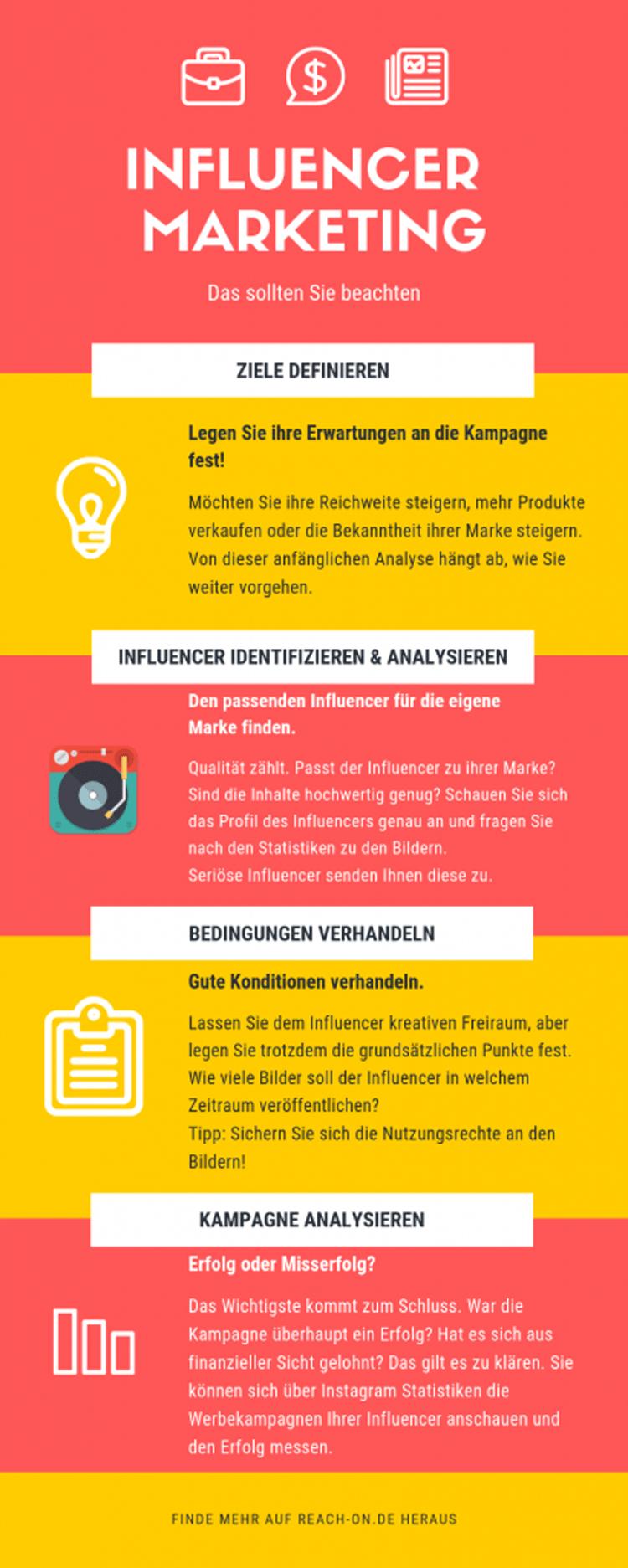 Infografik: Das sollten Sie beim Influencer Marketing beachten