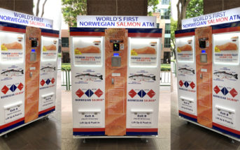 Innovativer Geldautomat liefert Lachs statt Bargeld