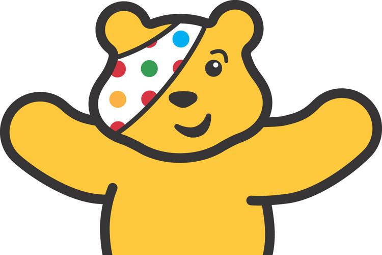 Pudsey Bär repräsentiert BBC-Wohltätigkeitskampagne