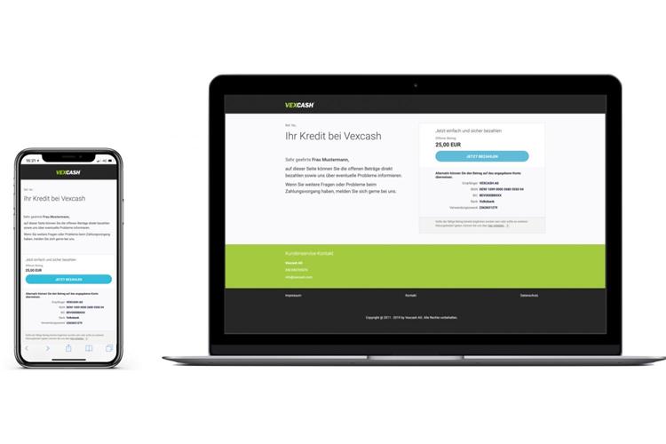 Die Vexcash-Payment Lösung von collectAI