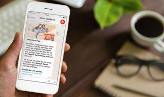 Mobile Dialogfunktion für Sparkassen via WhatsApp