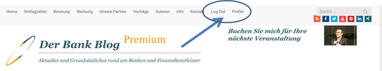 Anzeige eingeloggter Bank Blog Premium Nutzer