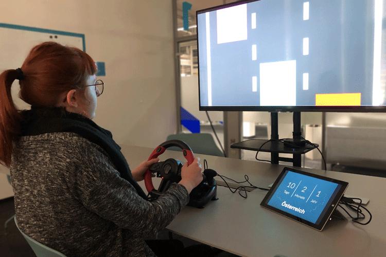 Prototyp für In-Car-Payments mit Fahrsimulation