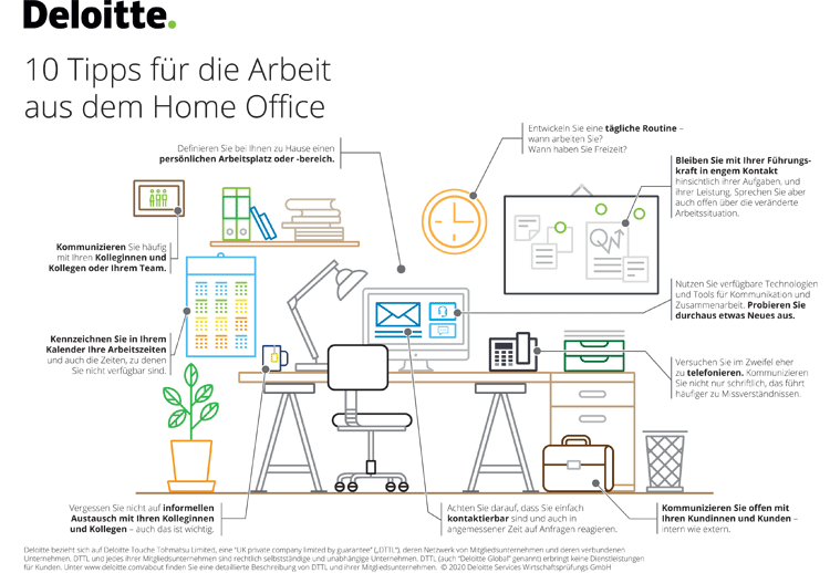 Infografik: Zehn Tipps zum Arbeiten im Home Office