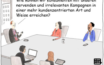 Cartoon: Kundenzentriertes Marketing neu gedacht