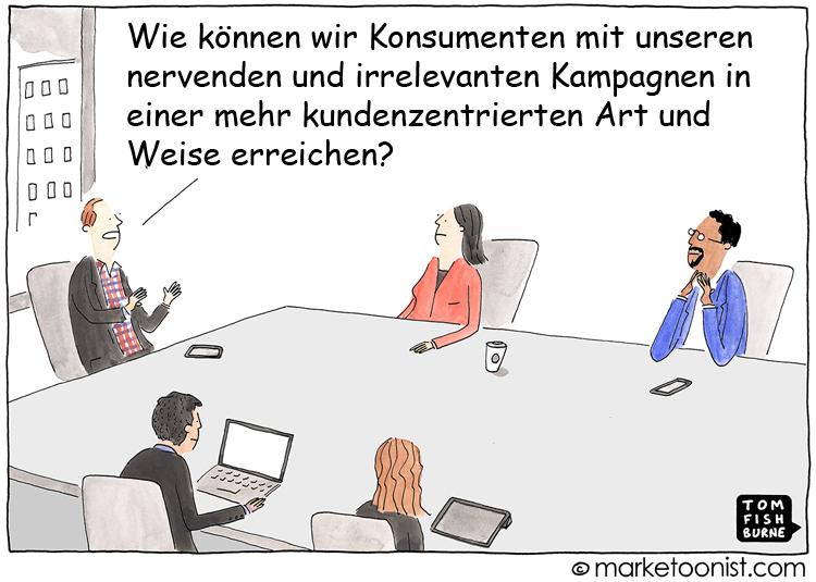 Cartoon: Kundenzentriertes Marketing neu gedacht