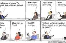 Cartoon: Klarheit bei der digitalen Transformation schaffen