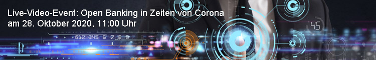 Live-Video-Event: Open Banking in Zeiten von Corona